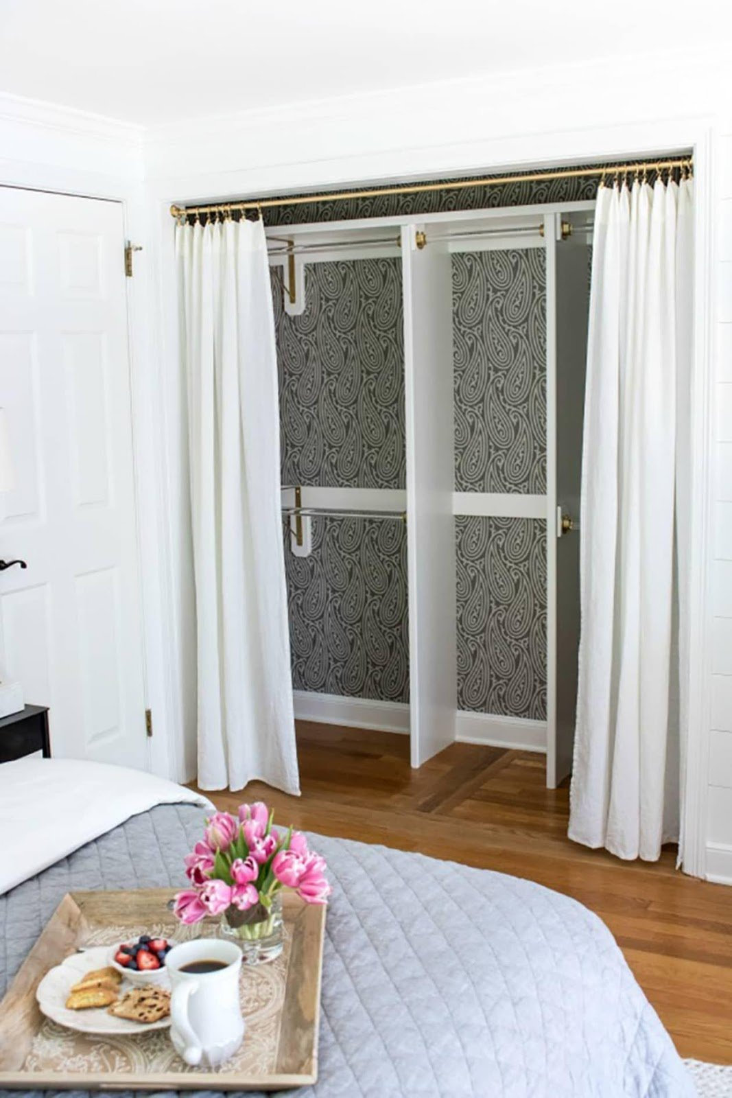 8. Swap Swinging Door with Curtains by simphome.com