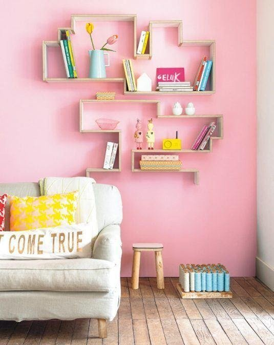 9. Be Creative with Floating Shelves by simphome.com