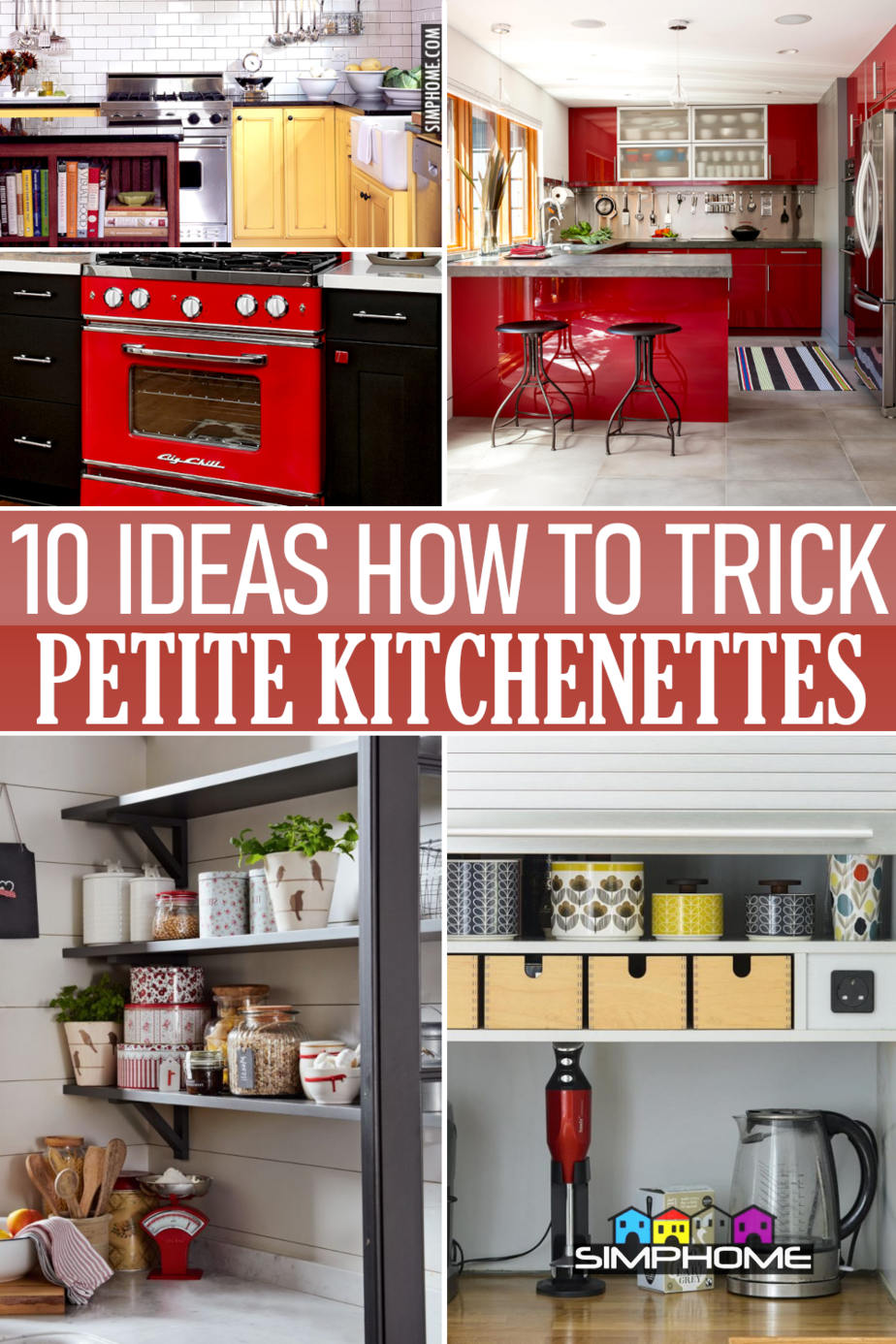 10 Clever Ideas to Trick Petite Kitchenette VIA Simphome.comFeatured