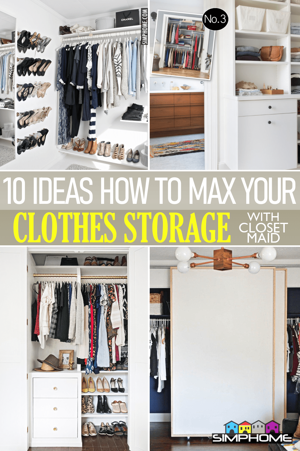 10 Ideas How to Max Your Clothes Storage with ClosetMaids via Simphome.comFeatured