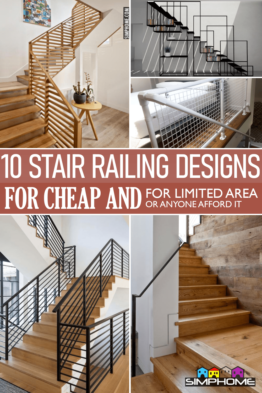 10 Stair Railing Ideas via Simphome.comFeatured