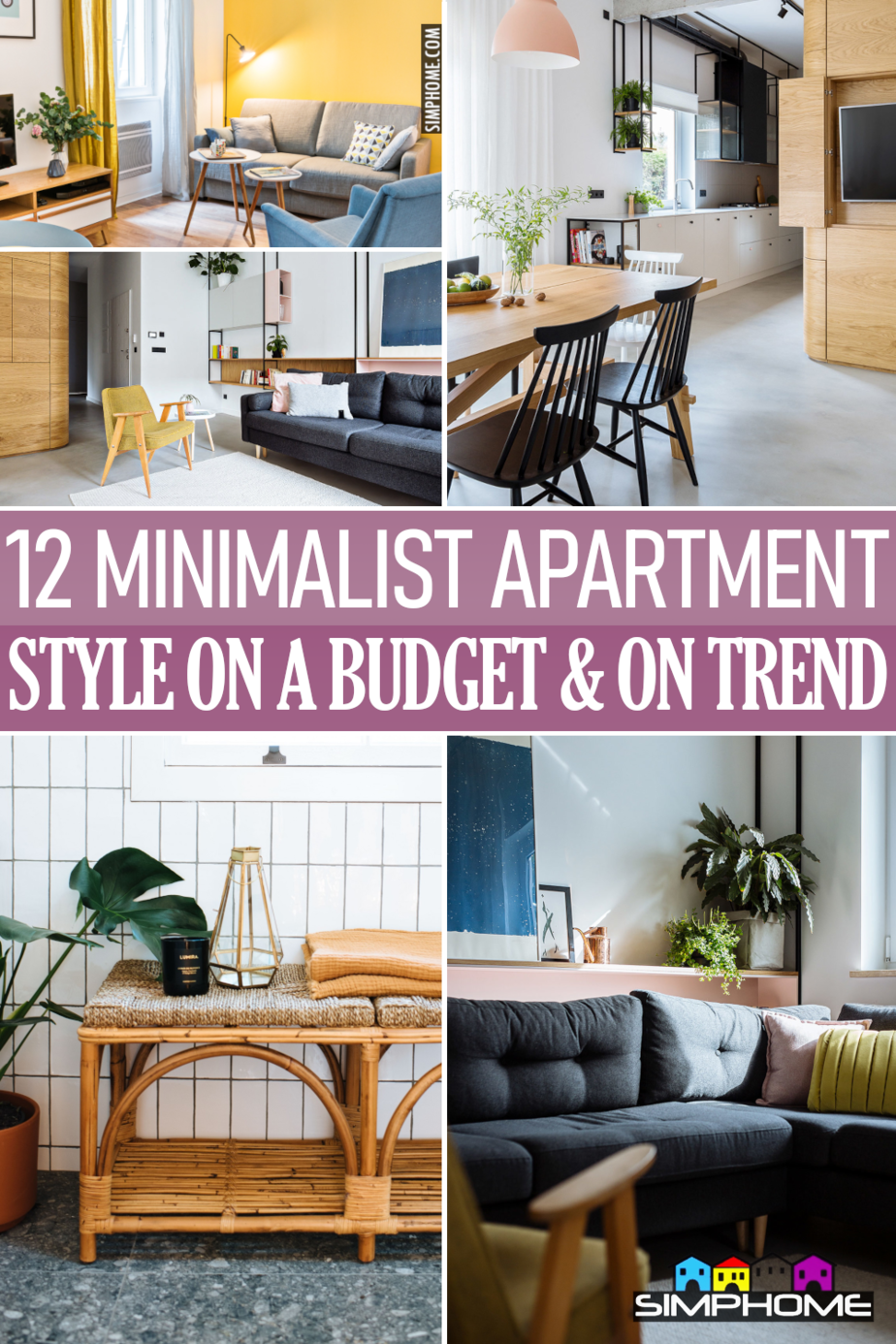 12 Minimalist Apartment Styles On a budget via Simphome.comFeatured