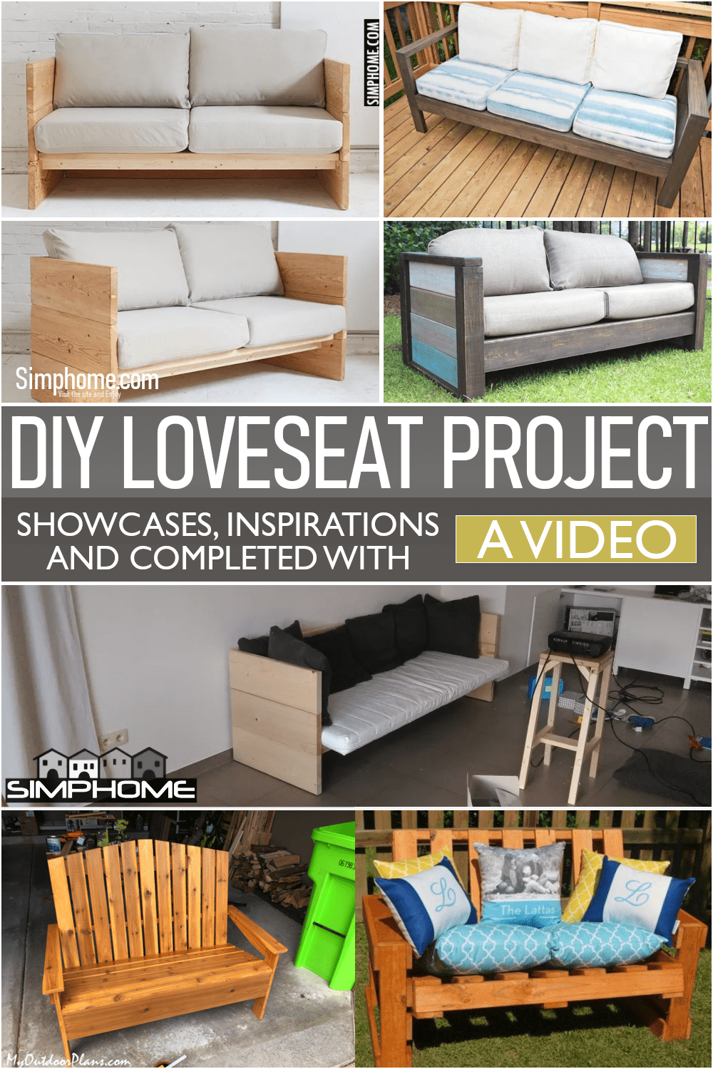 10 Loveseat DIY Projects via Simphome.comFeatured