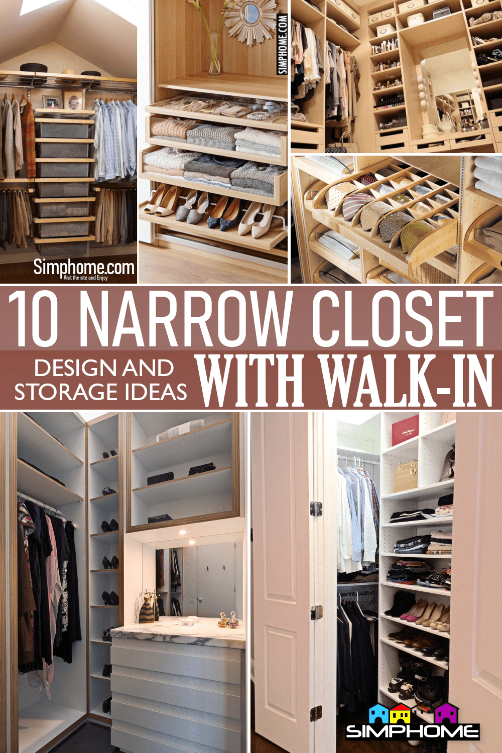 10 Narrow Closet Design and Storage Ideas with Walk in via Simphome.comFeatured