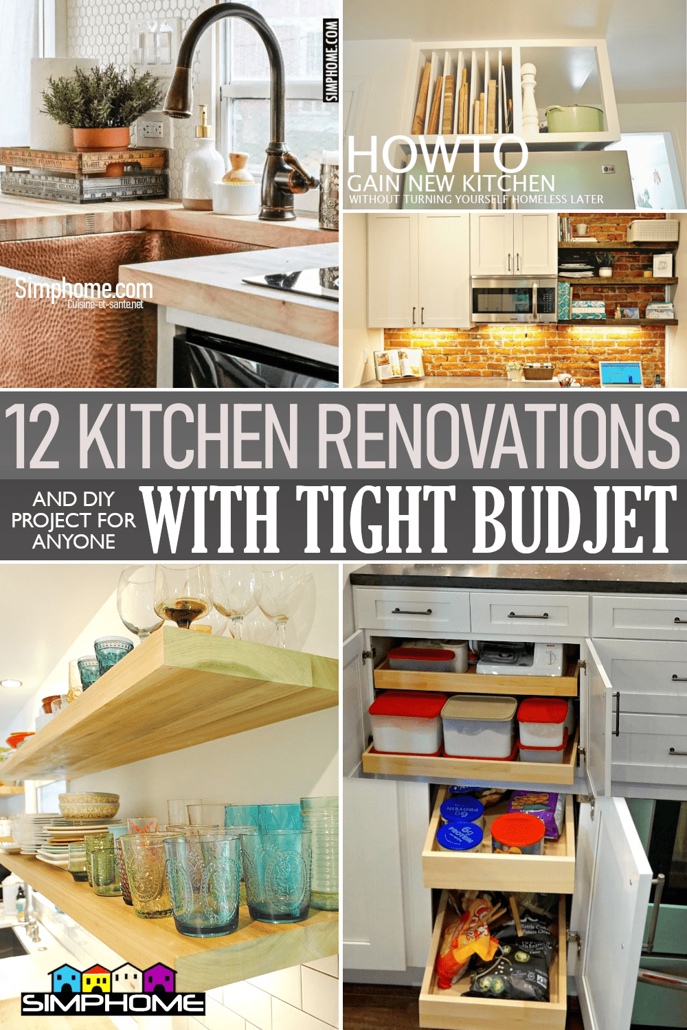 12 Small Kitchen Renovation Ideas On A Budget via Simphome.comFeatured