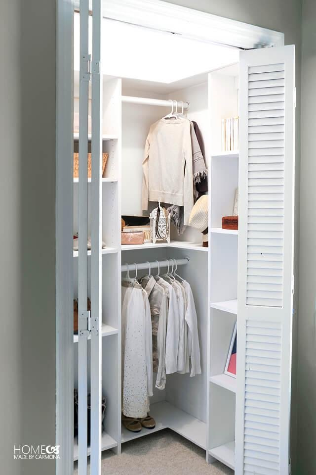 4. Experiment and Find new solution from this DIY CUSTOM CLOSET SHELVING FOR DEEP CLOSETS by simphome.com