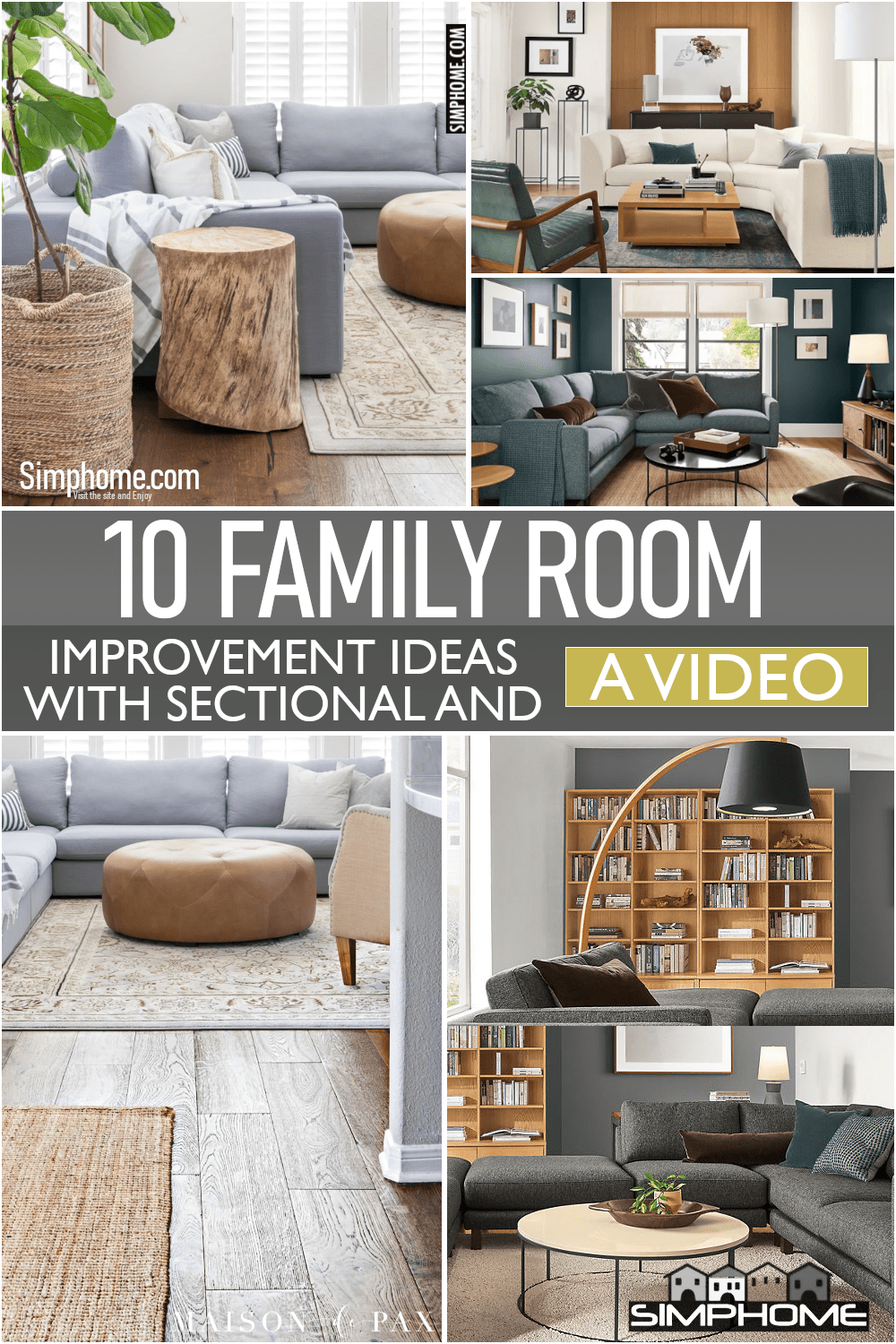 10 Family Room Sectional Ideas via Simphome.comFeatured