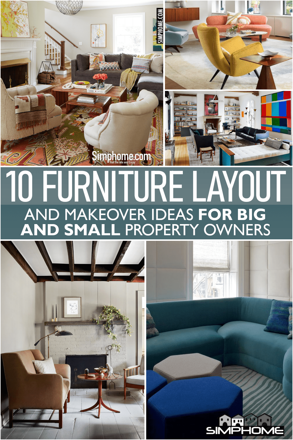 10 Furniture Layout for Big or Small Space via Simphome.comFeatured