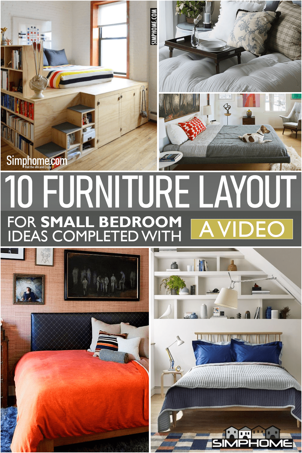 10 Furniture Layout for a Small Bedroom via Simphome.comFeatured