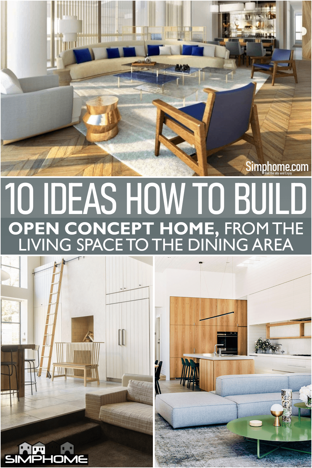 10 Ideas on How to Build Open Concept Homes via Simphome.comFeatured