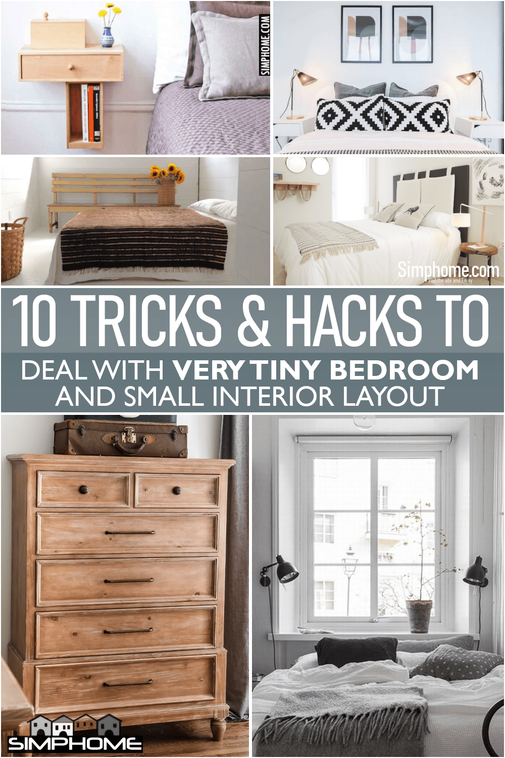 10 Tricks to Deal with a Very Tiny Bedroom via Simphome.comFeatured