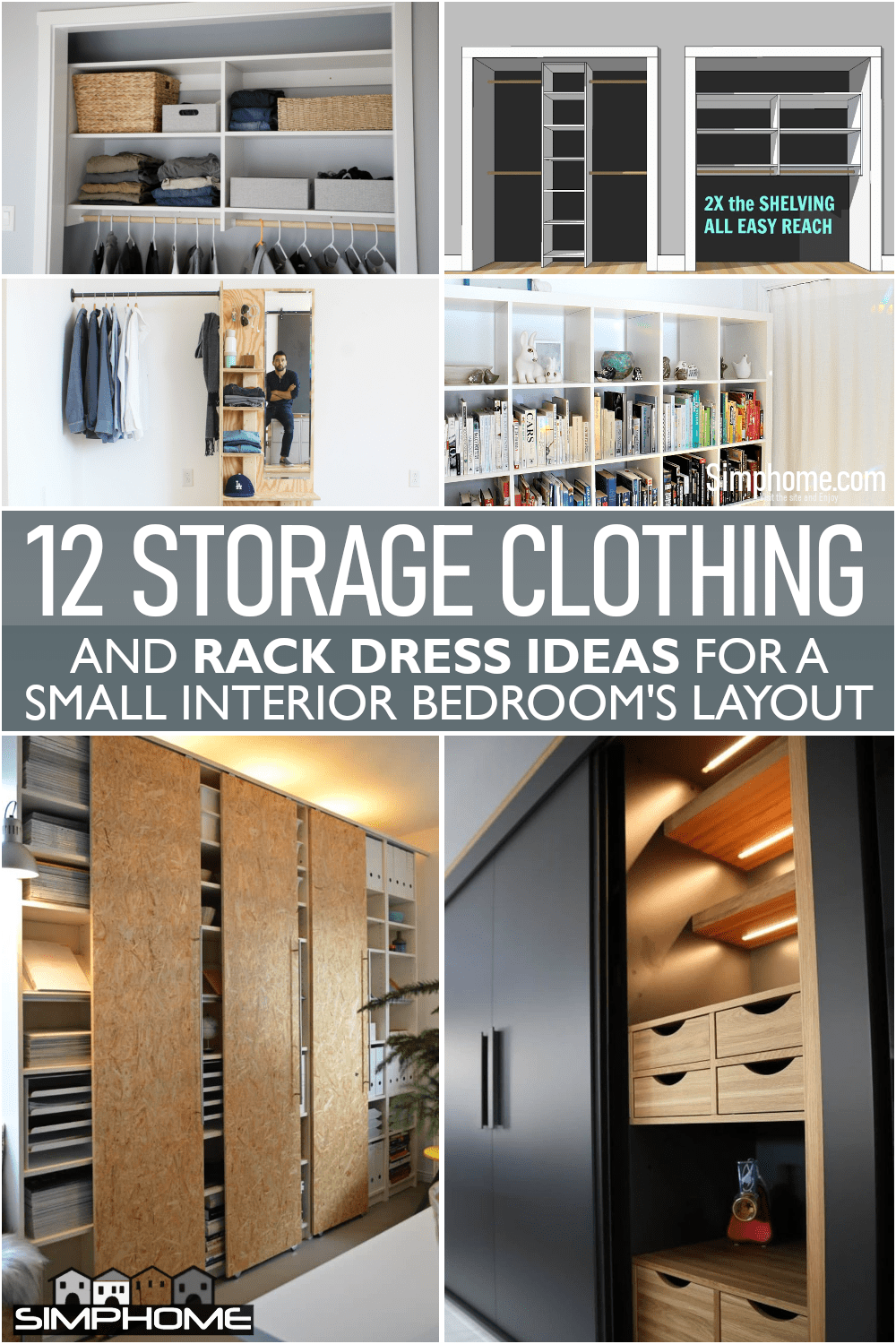 12 Storage Clothing and Rack Dress Ideas via Simphome.comFeatured