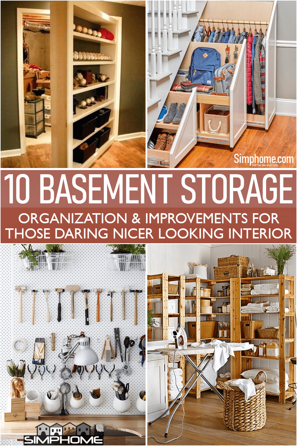 This is the poster for our 10 Basement Storage Room Optimizations