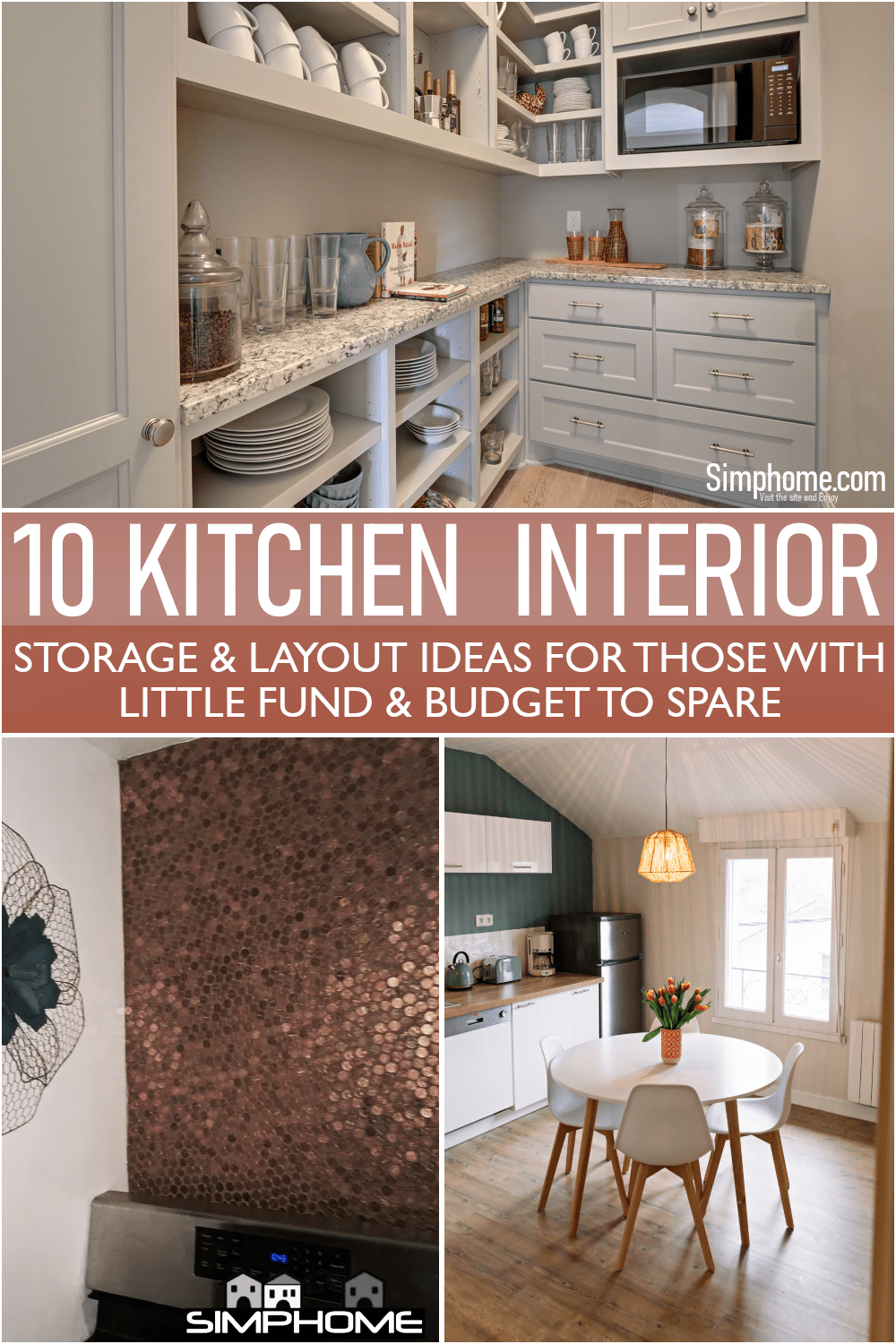 Enjoy and take inspiration from these 10 Kitchen Interior and Layout Ideas for Cheaps