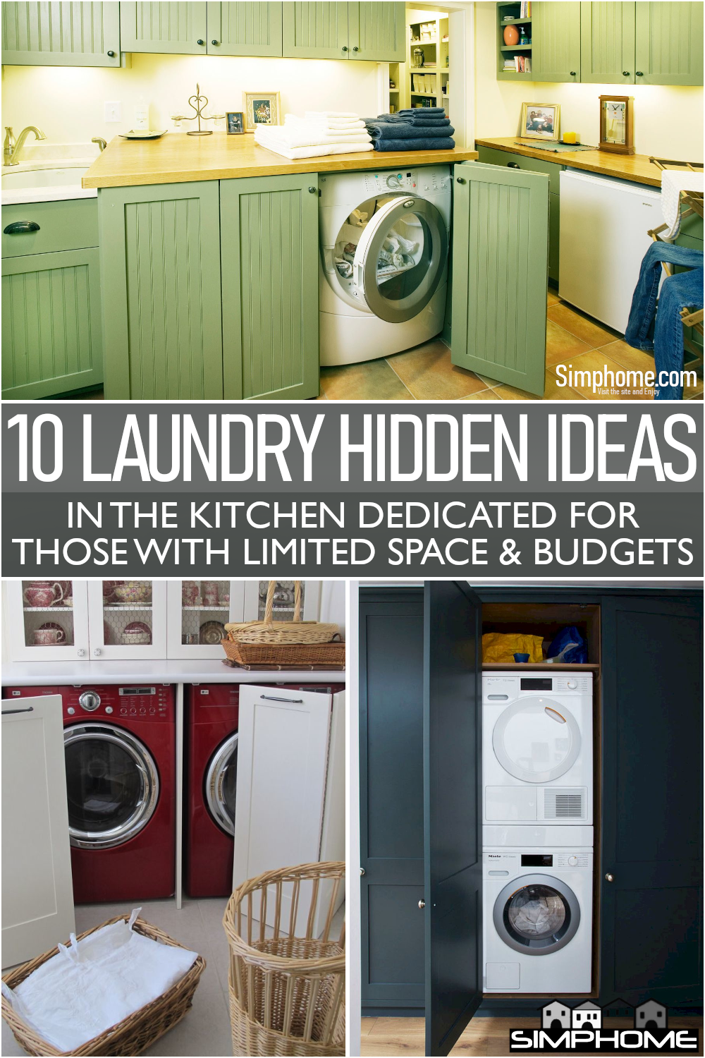 Awesome 10 Laundry Hidden in Kitchen Ideas