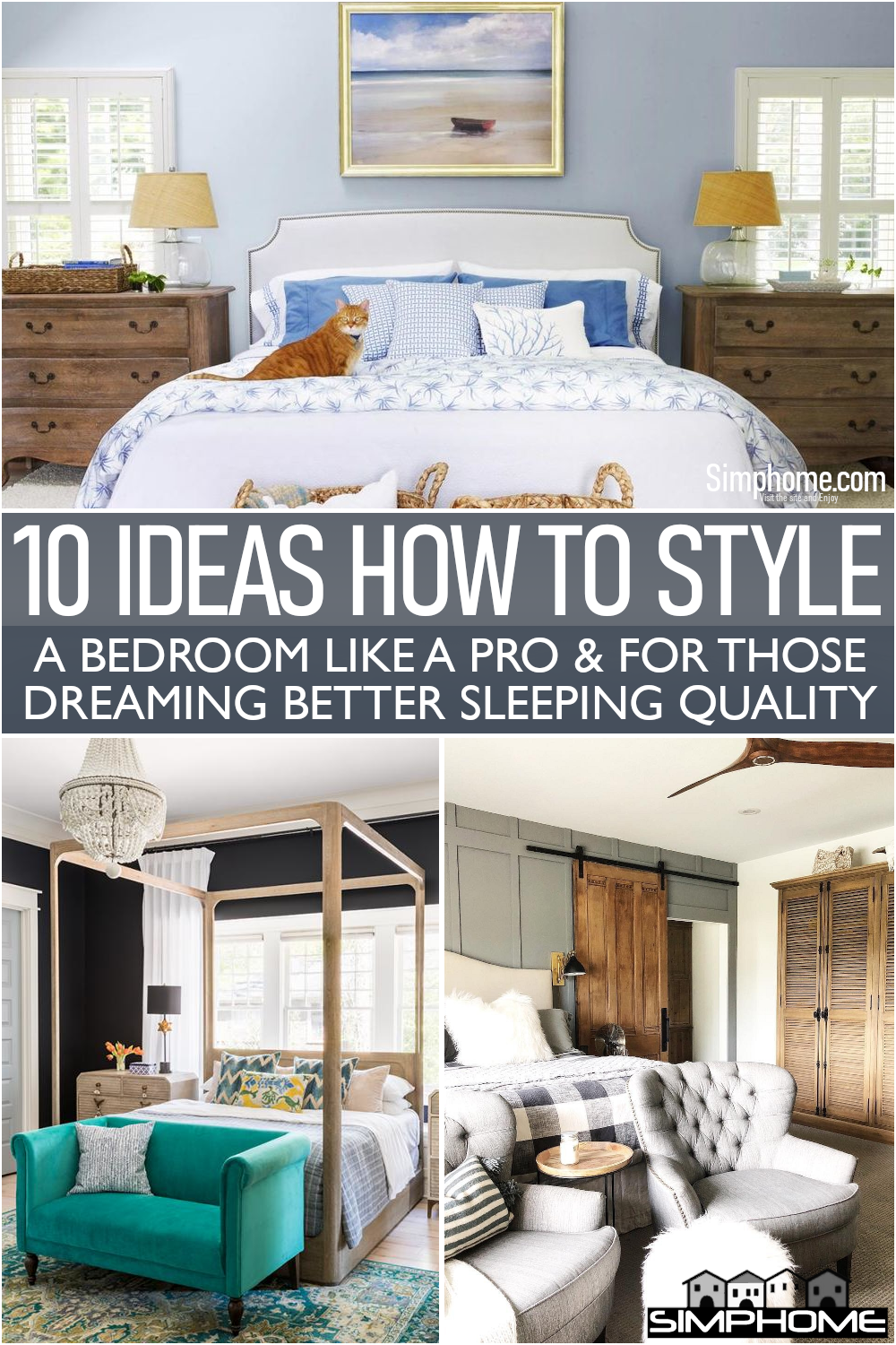 This is awesome and inspiring 10 Ideas to Style A Bedroom Like a Champ