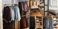 Take new bedroom improvement ideas from this 10 Small Walk-In Wardrobe Layout