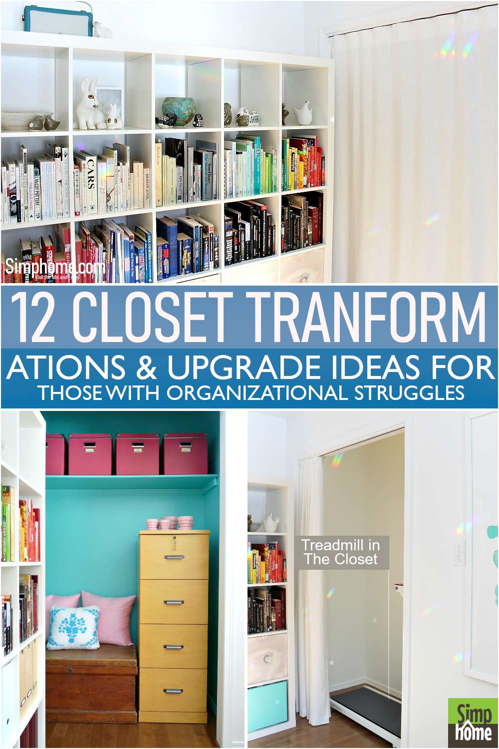 This is 12 Closet transformation poster